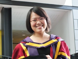 Lijing Lin at PhD graduation