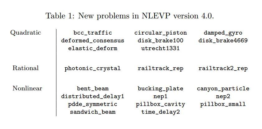 4.0 NLEVP problems