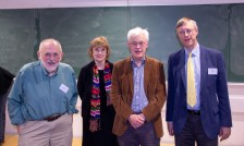 Cleve Moler, Margaret Wright, Nick Trefethen and Nick Higham (four SIAM past presidents)